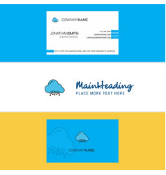 beautiful cloud circuit logo and business card vector image