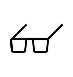 Black Glasses icon vector image
