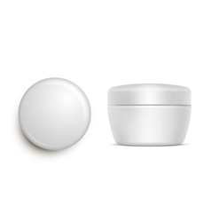 Blank jar for moisturizing cream or gel vector