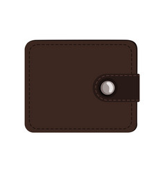 brown leather wallet purse case for money credit vector image