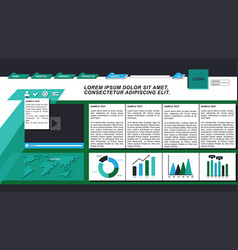 Business website interface vector