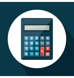 Calculator math device isolated icon vector