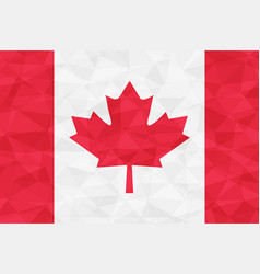 canada flag red polygonal vector image