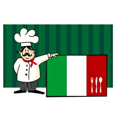 Chef of italian cuisine vector image