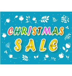 Christmas sale with floral background vector