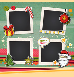 Christmas template frame vector