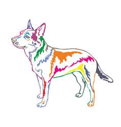 Colorful decorative standing portrait vector