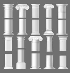 Column pillar realistic mockups architecture vector