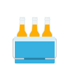 Cooler bag with beer bottles vector