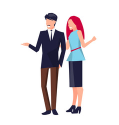 couple standing and talking vector image