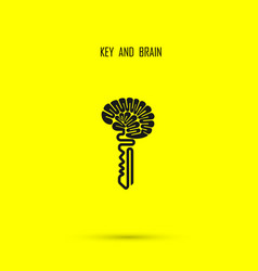 creative brain sign with key symbol key success vector image