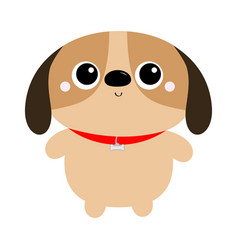 Dog toy icon big eyes puppy pooch standing funny vector