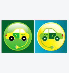 electric car or vehicle vector image