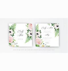 Elegant floral wedding invitation save date card vector