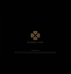 elegant luxury diamond for jewelry store logo vector image