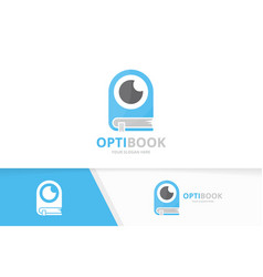 Eye and book logo combination optic and vector