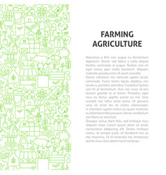 farming agriculture line pattern concept vector image