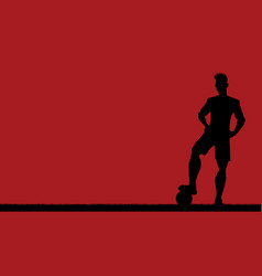 football player silhouette background vector image