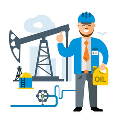 gas and oil industry flat style colorful vector image