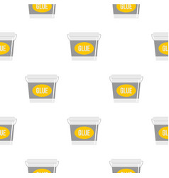 Glue bucket pattern flat vector