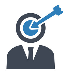 Goal target business icon vector