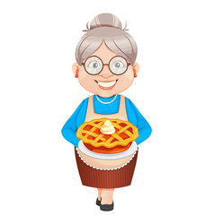 grandma cartoon character happy grandparents day vector image