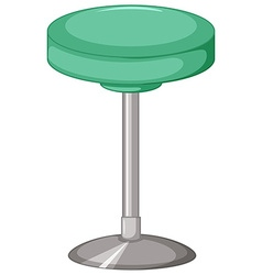 Green stool with metal leg vector