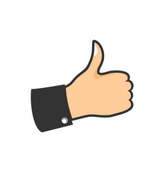 hand thumb up pop design vector image