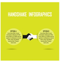 Handshank infographics vector