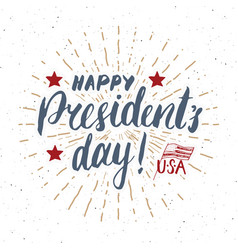 Happy presidents day vintage usa greeting card vector