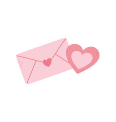 happy valentines day hearts love envelope letter vector image
