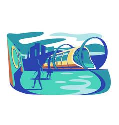 high speed futuristic train vector image