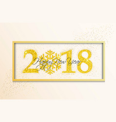 holiday new year card on white background vector image