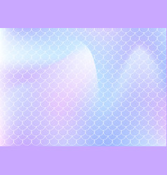 holographic mermaid background with gradient vector image
