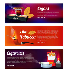 horizontal banners with of hookah vector image