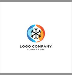 Hot and cold logo icon design vector