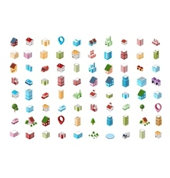 icons Isometric city vector image