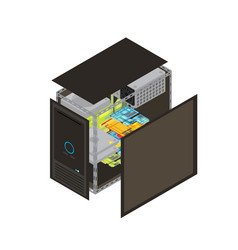 Isometric processor scheme vector