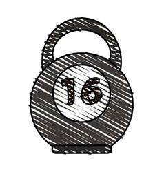 kettlebell vector image