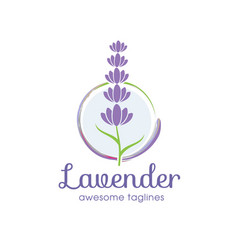 Lavender flower logo for beauty and cosmetic vector