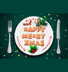 merry christmas and happy new year 2019 christmas vector image