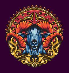 Mythology goat sacred geometry with a beautiful vector