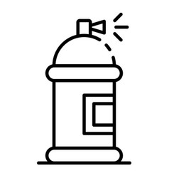 paint spray bottle icon outline style vector image