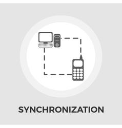 Phone sync flat icon vector image