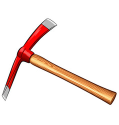 pickaxe on white background vector image