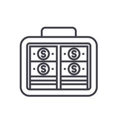 portfolio moneyinvestmentbanknotes line vector image