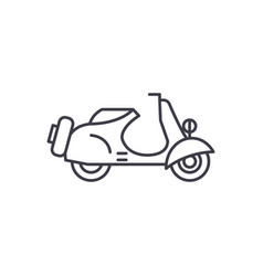scooter line icon concept scooter linear vector image