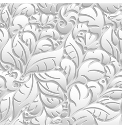 Seamless floral pattern with shadow vector