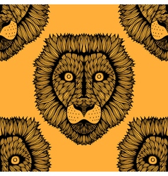 Seamless lion background vector