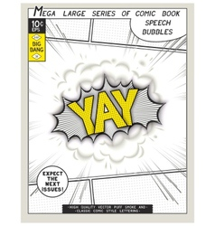 Series comics speech bubble vector image